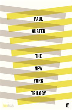I love this cover design for the Paul Auster book 'The New York Trilogy' (Faber) Best Book Covers, Vintage Book Covers, Design Graphique, Art Graphique, Gfx Design, Print Design, Paul Auster, Design Editorial, Buch Design