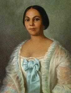 th century w of color creole style  18th century french creole women marie thereze carmelite anty metoyer by french man of
