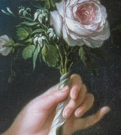 detail, marie antoinette with rose