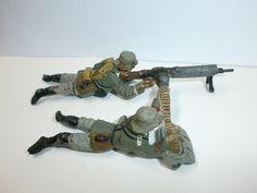 Konvolut 2 alte Lineol Massesoldaten mit leichtem Maschinengewehr LMG zu 7.5cm | eBay