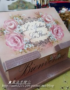 傢飾彩繪★花卉風情 - 斜面平板置物(食譜)架-彩繪玫瑰 @ Ling 的相簿 :: 痞客邦 PIXNET ::