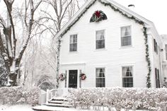 Our house in the snow.  www.susanbranch.com