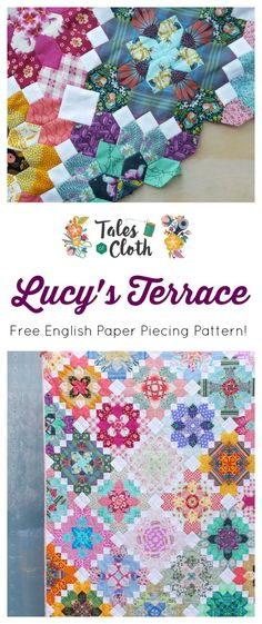 Lucy's Terrace, A Lucy Boston Inspired Quilt Pattern by Tales of Cloth. #patchworkofthecrosses #englishpaperpiecing