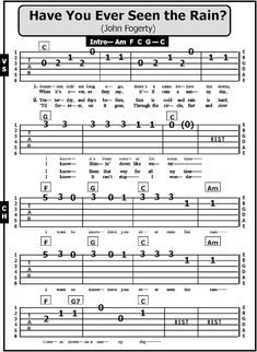 Here are simple versions of two popular folk songs from the popularized by Creedence Clearwater Revival and Arlo Guthrie , an. Guitar Chords And Lyrics, Easy Guitar Tabs, Music Theory Guitar, Acoustic Guitar Chords, Guitar Chords For Songs, Guitar Riffs, Guitar Sheet Music, Ukulele Fingerpicking Songs, Guitar Strumming