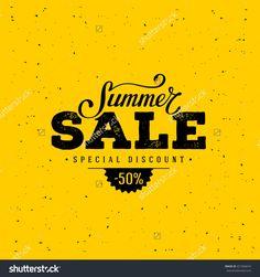 Summer Sale Banner. Vintage Design. Vector Illustration. - 421904674…