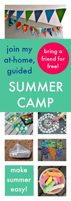 Fun summer camp activities for kids :: at home summer camp :: art camp activities :: Online art lessons for children