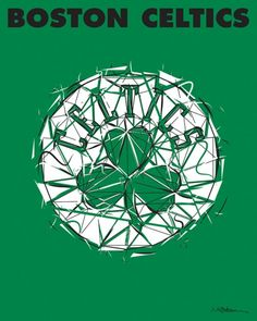 Show your Boston Celtics pride with this NBA logo design. Select from fine art print or canvas design at rareink.com