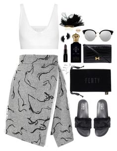 """Clinch"" by oh-aurora ❤ liked on Polyvore featuring Puma, Cushnie Et Ochs, Clive Christian, Hermès, Smashbox, Maison Michel, Lulu Frost, Yeprem, monochrome and blackandwhite"