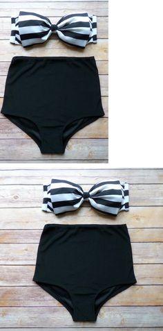 Dark Navy Bow Floral Bikini Set
