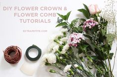 Flower crown & comb DIY tutorial (bridal shower activity)