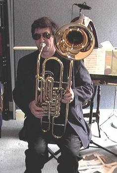 The cimbasso is a brass instrument in the trombone family, with a sound ranging from warm and mellow to bright and menacing. It has three to five piston or rotary valves, a predominantly cylindrical bore, and is usually pitched in F or B♭. It is in the same range as a tuba or a contrabass trombone.