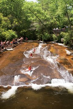 The South's Best Swimming Holes and Waterfalls: Sliding Rock in Psgah National Forest