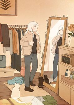 Japon Illustration, Cute Illustration, Kawaii Wallpaper, Cartoon Wallpaper, Animes Wallpapers, Cute Wallpapers, Aesthetic Art, Aesthetic Anime, Anime Scenery Wallpaper