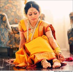 How To Look Like A Beautiful South Indian Bride?   Bridal Sarees
