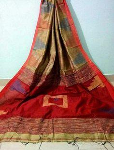Cotton Silk Temple Saree  Pure Handloom with Blouse pics Free Shipping all INDIA www.midazfashion.com Contact Us On Whatsapp +919007829007 Cotton Silk, Saree, India, Pure Products, Temple, Free Shipping, Blouse, Fashion, Sari