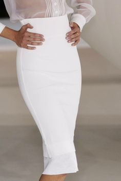 Pencil Skirt White by Givenchy.