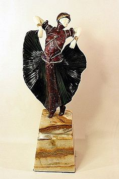 Butterfly Dancer - Bronze and Ivory Sculpture by Chiparus