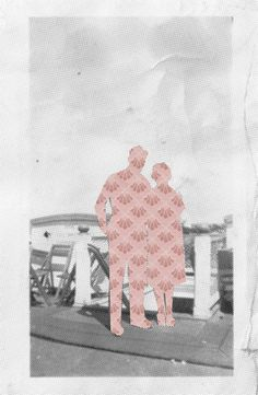 Collage digital pareja de tela