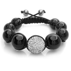 Swarovski Crystal Beaded Bracelet Pave Mens Ladies Unisex Hip Hop Nine Graduating Black and White Disco Ball Bead Adjustable DazzlingRock Collection. $12.99. Disco Ball Beads. Get most bang for your buck. It is a trendy accessory and makes a perfect gift for any occasion.