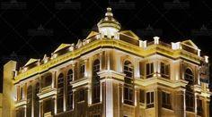 نما در شب ساختمان مسکونی روسپینا International Real Estate, Mansions, House Styles, Home Decor, Decoration Home, Manor Houses, Room Decor, Villas, Mansion
