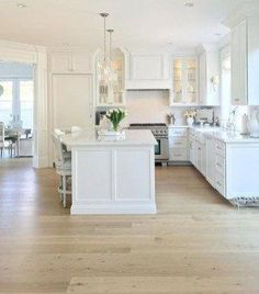 White Kitchen Ideas - here's great reason that all-white cooking areas are trending today-- they're clean, timeless, and show an all-around bright and also delighted aesthetic . New Kitchen Cabinets, Painting Kitchen Cabinets, Kitchen Counters, Floors Kitchen, Kitchen Drawers, White Cabinets, Kitchen Island, Kitchen Furniture, Kitchen Decor
