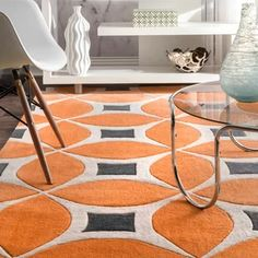 Stay on trend with the contemporary look of the nuLOOM Sunflower Hand Tufted Gabriela Area Rug. This Hand Tufted, Polyester versatile rug features a stylish Geometric pattern that will compliment any room. Yellow Rug, Orange Rugs, Orange Area Rug, White Area Rug, Beige Area Rugs, Contemporary Area Rugs, Modern Area Rugs, Modern Contemporary, All Modern