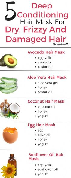 Get your hair problems solved with these deep conditioning hair mask. It moisturizes dry, frizzy and damaged hair and also promote hair growth. hair remedies 5 Deep Conditioning Hair Mask For Dry, Frizzy & Damaged Hair Coconut Hair Mask, Egg Hair Mask, Egg For Hair, Hair Mask For Damaged Hair, Hair Mask Curly Hair, Hair Mask For Growth, Damaged Hair Treatment, Masks For Hair, Dry Frizzy Hair