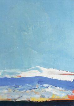 Nicolas de Staël (1914-1955) Paysage, Antibes 1955 Huile sur toile 116x89cm Coll Senn Le havre musée d'Art moderne André Malraux