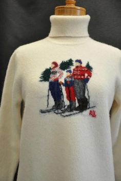 eBay win......vintage ralph lauren holiday ski sweater...bought grey........happily wore christmas 2012..........