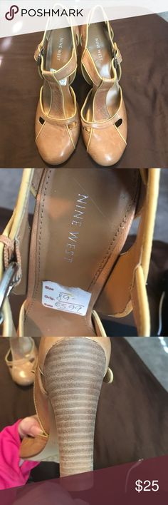 New Nine West heals Tan, new, closed toe, and would look great worn casual or dressed up Nine West Shoes Heels