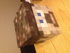Mine craft Steve valentines day box
