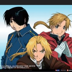 Roy Mustang, Edward Elric and Alphonse Elric :D