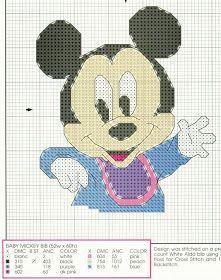 Gráficos de Ponto Cruz: Graficos Baby Disney em Ponto Cruz