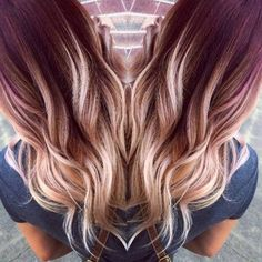 Red ombre hair 2017 all hairstyles, hair color balayage Hair Color And Cut, New Hair Colors, 2 Tone Hair Color, Winter Hair Colors, Fun Hair Color, Different Hair Colors, Ombre Hair With Color, Hair Color Ideas, Nail Colors