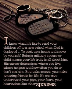 I haven't been through ALL of this yet but it is sooo true and molitary wives are the most amazing friends! ♡