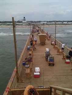Bogue fishing pier, Emerald Isle NC used to go with my daddy! I miss NC!