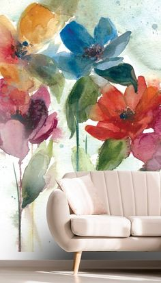 Wallpaper Mural Tricks: How to Choose and Install Dance Wallpaper, Flower Dance, Flower Mural, Pastel Decor, Room Decor, Wall Decor, Mural Wall Art, Custom Wallpaper, Floral Wall