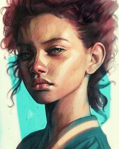 #illustration #sketch #draw #digitalart #artwork #portrait #girl by aykutmaykut