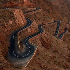 Agadir, Morocco. I have been in this road on a bus... What a scare!!!
