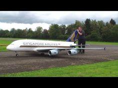 Orig.RCHeliJet™ Ferngesteuert Gigantic A-380 Singapore Airlines Peter Michel Hausen a.A 2013 - YouTube