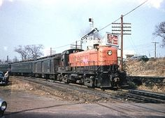 New haven railroad locomotives are seen near the old for New penn motor freight tracking