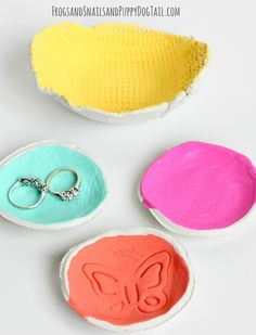 DIY Clay Bowls on FSPDT Kid made gift for mother's day or teachers...