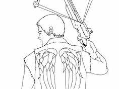easy to draw daryl dixon - Google Search