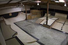 Action Skate Park in San Carlos Youth Center, Skate Park, Building Design, Indoor, The Originals, Cool Stuff, Interior, Home Decor, Kiosk