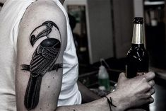 Toucan Arm Tattoo http://tattooideas247.com/toucan-arm-tattoo/