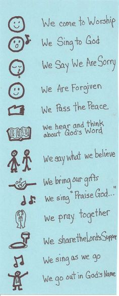 A great way to summarise and clarify worship time