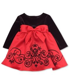 Rare Editions Baby Dress, Baby Girls Red Velvet Holiday Dress from Macy's on shop.CatalogSpree.com, your personal digital mall.