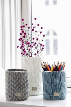 Small Knitted Vase
