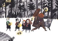 Harry Potter by Dick Vincent Illustration