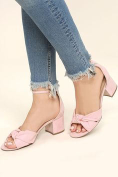 e4736f1ac33 Lalita Peach Suede Ankle Strap Heels